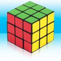 Sticker Magic Cube Puzzle Twist , ABS material, OPP bag packaged