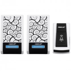 Cordless Remote Wireless Digital Doorbell 1 Smart Doorbell with 2 Receiver 36 Polyphony Sounds