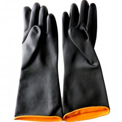 Black Industrial Gloves Acid and Alkali Resistant Latex Gloves