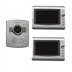 ASK-311CM-VI with 1pcs ASK-312CL7, 1 Villa outdoor station connect with 2 indoor monitor