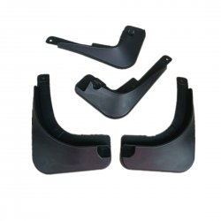 Car Splash Guard ABS Car Dirtboard 4 In 1 Pack Black Volkswagen Cross Polo