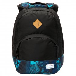 Campus Style Backpack 15'' Laptop Large Capacity  Blue+Black Pattern