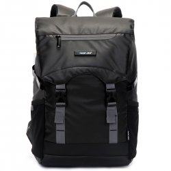 Urban Casual Style Backpack 15'' Laptop Large Capacity  Black+Gray