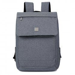 Unisex Business Casual Backpack Computer Shake-resistant Bag Gray