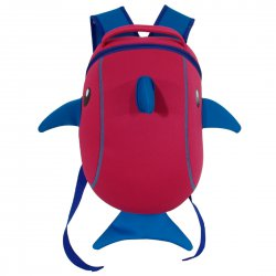Kid's Backpack Cute Zoo School Bag Cartoon Dolphin Design Small Size Red