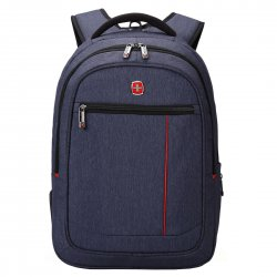 Men's Laptop Computer Backpack Traveling Bag Blue