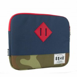 Handbag Tablet Bag for 10 Inch Tablets Navy Blue + Camouflage