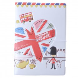 Passport Holder Stereo ID Cards Holder Necessary for Traveling Abroad London Style