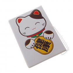 Passport Holder ID Cards Holder Fortune Cat Pattern