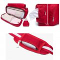 Tote Diaper Bag Multi-function Mommy Backpack Hand Shoulder Bag Red