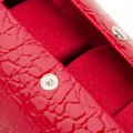 Jewelry Box Casket Box Exquisite Makeup Case Organizer Alligator Grain Rose Red
