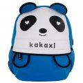 Kid's Backpack Cute Zoo School Bag Cartoon Panda Design Blue