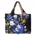 Foldable Environmental Shopping Bag Fashionable Famous Painting Bag Spring Flower Ball Pattern