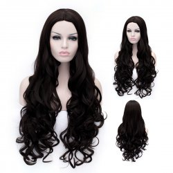 Cosplay Wig Black Carved Wavy Long Curly Wig