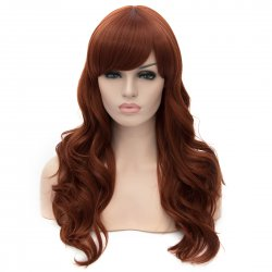 Cosplay Wig Brownish Red Long Curly Hair Wig
