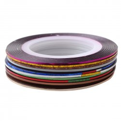 10 Colors Rolls Striping Tape Line Nail Art Tips Decoration Sticker
