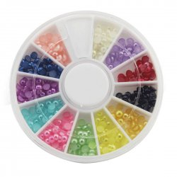 12 Color 3.0mm Artificial Pearl Nail Art Tool Kit