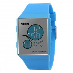 Women's Fashionable Sport LED Watch Waterproof Student's Watch 1169 Blue