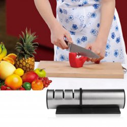 3 Stage Professional Manual Kitchen Knife Sharpener Coated Sharpening System