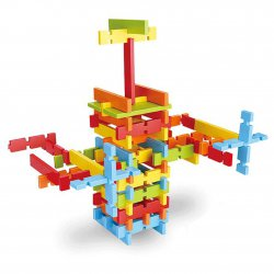 Building Blocks Wooden Building Blocks Set - Multi Blocks In Multi Colors