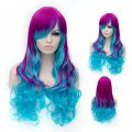 Cosplay Wig Purple Red to Blue Euramerican Style Wig
