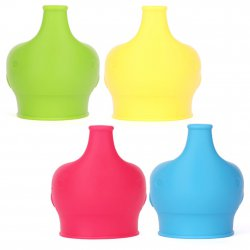 4pcs Healthy Sprouts Silicone Sippy Lids Safety Make Any Cup Sippy Cup Elephant