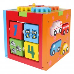 First Learning Blocks Wooden Educational Toys Puzzle Toys Game Birthday Gifts