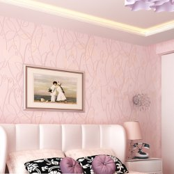 3D Leaves Pastoral Nonwoven Wallpaper Background Bedroom Living Room Walls Decor