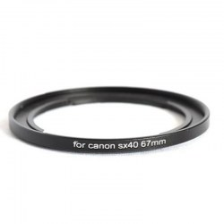 67mm Filter Adapter for Canon PowerShot SX30 SX40 SX50 SX520 HS replace FA-DC67A