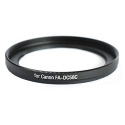 Metal FA-DC58C Lens Filter Adapter Mount 58mm Thread Canon PowerShot G1 X G1X