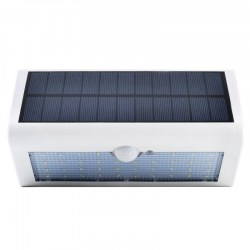 Outdoor Solar Power Large Wall Light Spotlight White