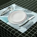 4/6pcs Tableware Pad Placemats Kitchen Dining Room Mat Polyester Insulation