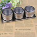 Magnetic Stainless Steel Spice Storage rack/Seasoning Jars-Perfect Containers