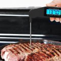 Foldable Digital Kitchen Thermometer Probe Luminous Voice Broadcast Functions
