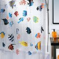 "Tropical Fish PVC Transparent Waterproof Mildewproof Shower Curtain 71"" x 78"""