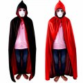 Halloween Hooded Cloak Black Red Reversible Dress Small Size 110cm