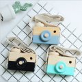 Wooden Camera Toys For Baby Kids Room Hanging Decor Furnishing Articles Photography Prop
