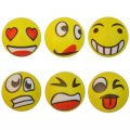 Stress Relief Therapy Squeeze Ball PU Balls Emoji Hand Wrist Finger Exercise 6pcs/pack