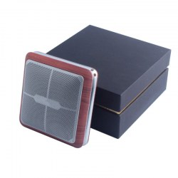 BIGWAVE Dual Loudspeaker Wireless Sound Box Mini Car Sound HF Calls Q8 Padauk Grain