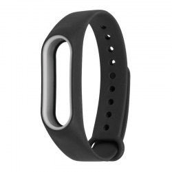Band Strap for Xiaomi Band 2 Mi Band 2 Double Colors TPU Band Strap Black+White