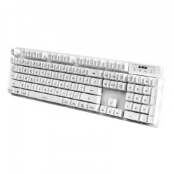 Background Light Gaming Keyboard USB Port Wired Keyboard White