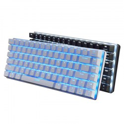 AK33 Gaming Mechanical Keyboard 82 Keys Wired Keyboard Black Single Background Light