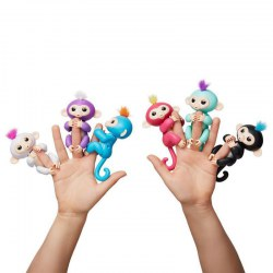 Interactive Baby Monkey Fingerlings Zoe red