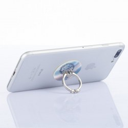 Round Diamante Mobile Phone Ring Holder Grip Metal Ring+Phone Holder