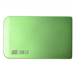 HDD Enclosure Aluminum Green