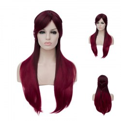 Long Straight Hair A623 LW1461 Red