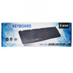 KB-105 Standard Gaming/Office USB Cable Keyboard Black