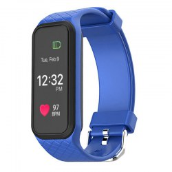 BOZLUN Smart watch color screen heart rate monitor fitmess tracker L38I bule