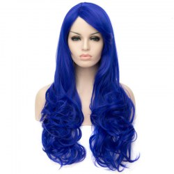 Long Curly Hair Wigs A755 LW1513 Blue