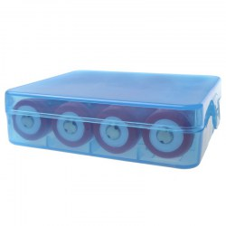 BTY 18650, 18350 battery receive a case blue